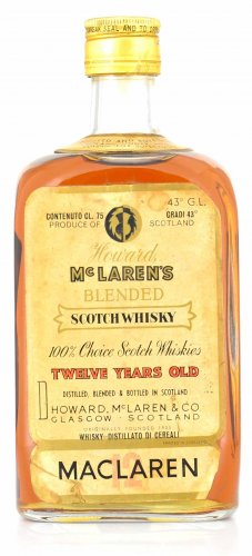 HOWARD MC LAREN'S BLENDED SCOTCH WHISKY 12 YO
