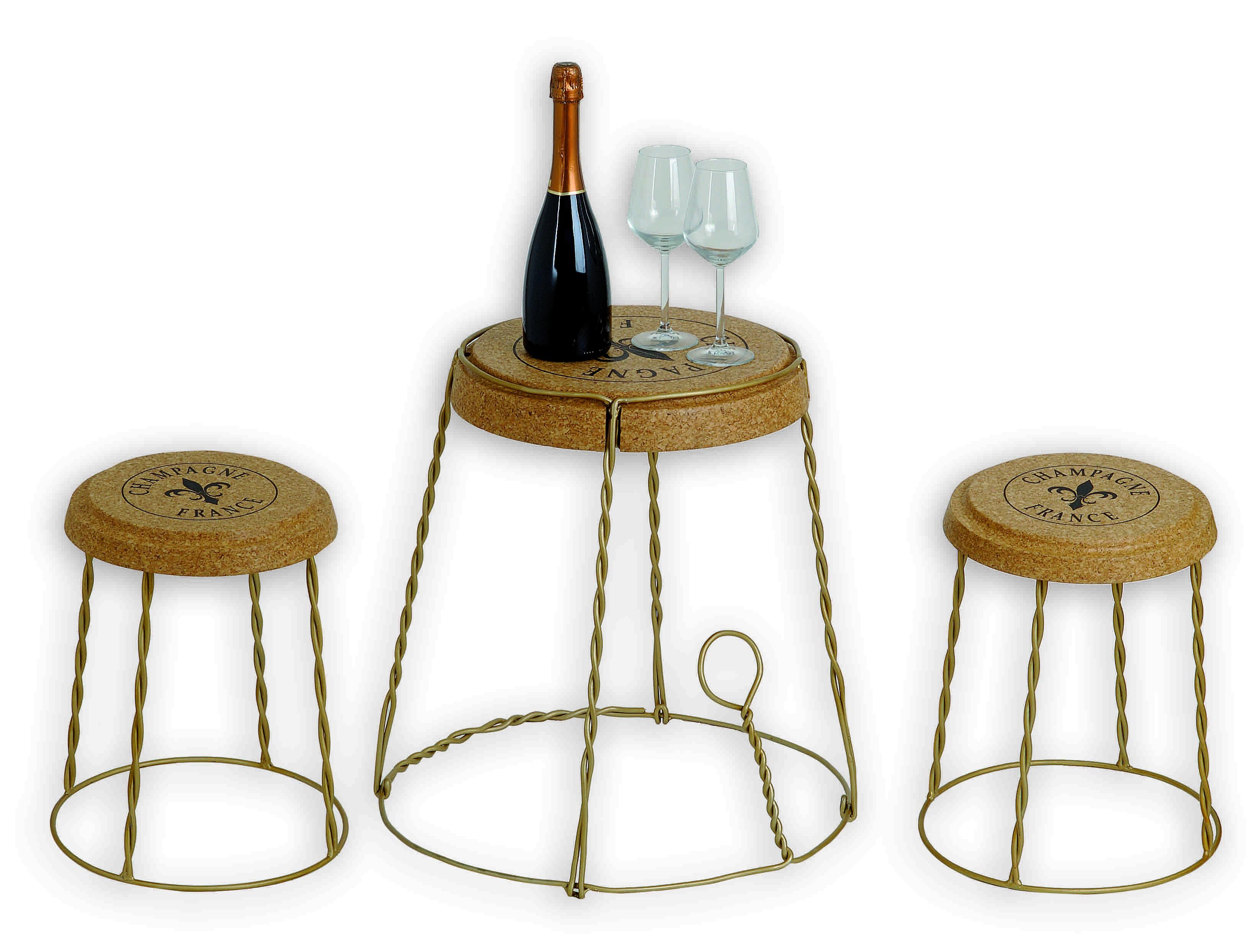 Sgabello gabbietta in sughero e metallo renoir affi wine bar