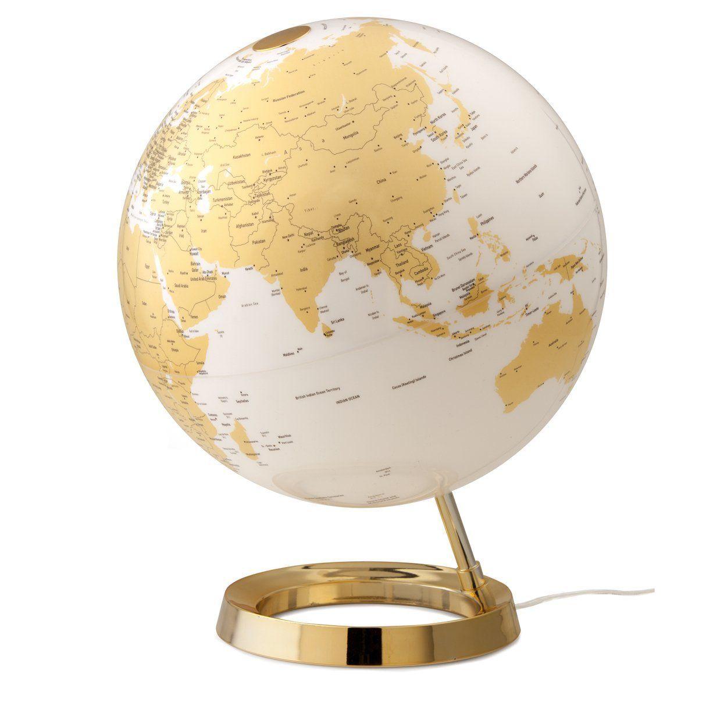Mappamondo 30 cm l c gold inglese 230 v light colour for Complemento d arredo in inglese